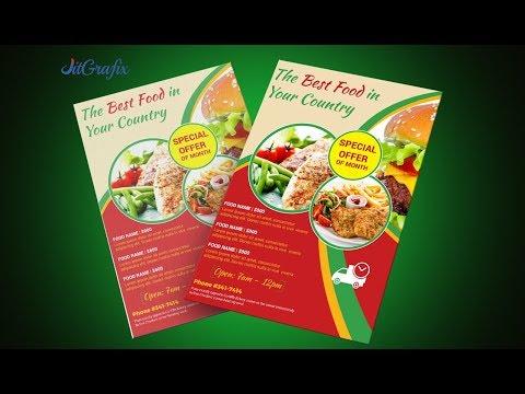 Food flyer in illustrator CS6 | Promotion Flyer Design Tutorials  | Burger Poster Design Latest