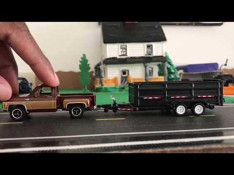Testing A GreenLight 1:64 Trailer on MBX Trucks