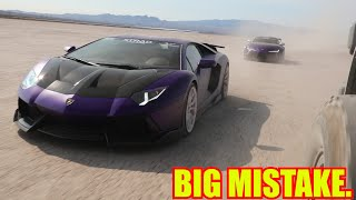Never Offroad Supercars ft. my Widebody Supra and Aventador