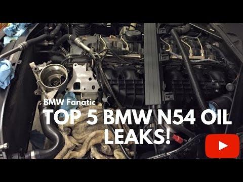Top 5 BMW N54 135i 335i 535i Maintenance Oil Leaks!