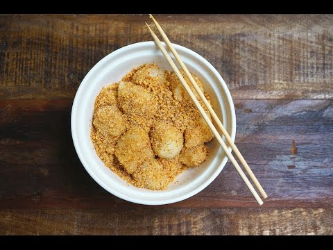 Muah Chee (Glutinous Rice Snacks With Peanut & Sugar)