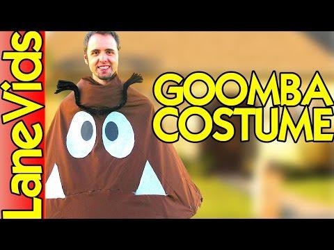 BEST SUPER MARIO BROS GOOMBA HALLOWEEN COSTUME   Homemade Goomba Halloween Costume   LaneVids