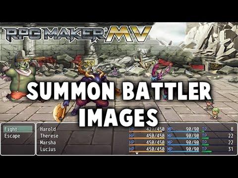 Summon Battler Images Plugin - RPG Maker MV