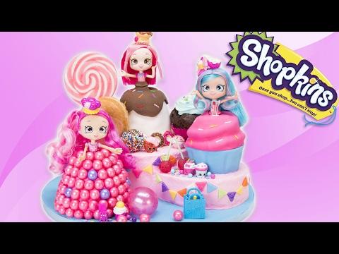 Shopkins Shoppies Cake from the Toys: Donutina, Jessicakes, Bubbleisha (Doll Cakes)