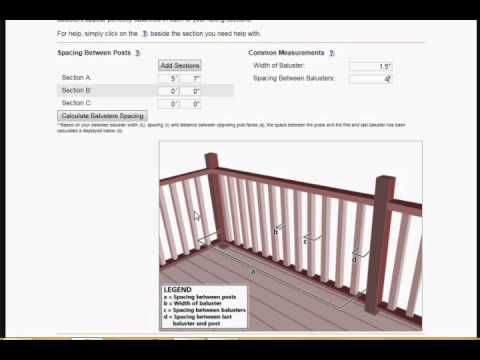 Railing Spacer Calculator Tutorial