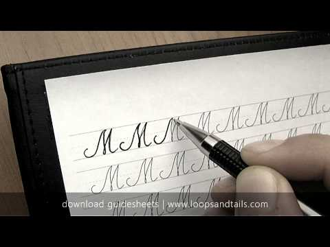 Learn cursive handwriting - Capital M