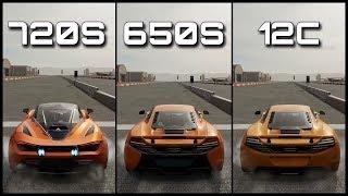 Mclaren 720s Vs 650s Vs 12c | Acceleration, Dragrace, Laptime & Topspeed | Forza Motorsport 7