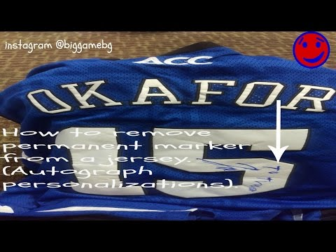 How to Remove Permanent Marker from a Jersey.