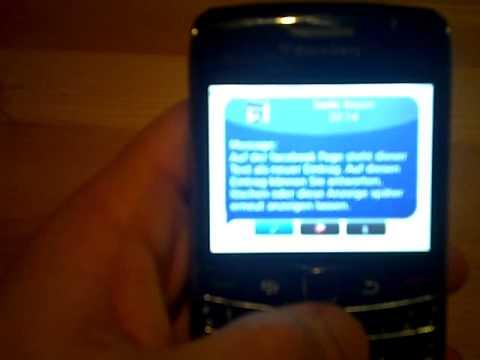 BlackBerry App Facebook Popup in english