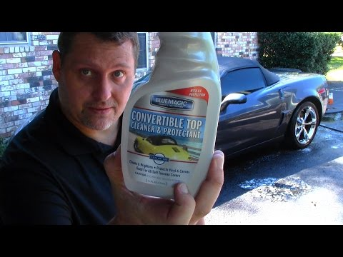 How To clean a convertible soft top
