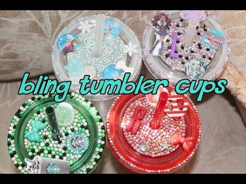 Bling Tumblr Cup ❤ Starbucks, Monster High, Ariel & Frozen