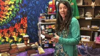 Laura Frontierro in her shop Moon Goddess in Amherst