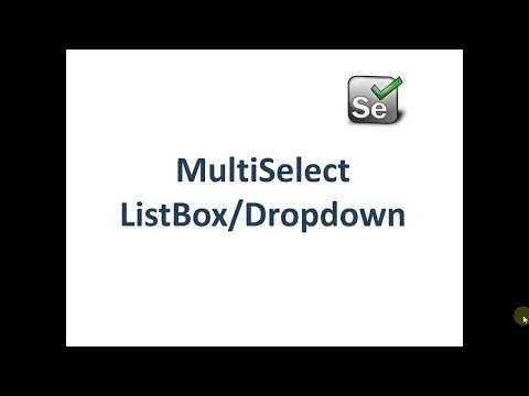 Multiselect Dropdown in Selenium Webdriver 3.0