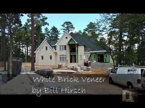 White Brick Veneer on Exterior of a House