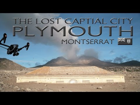 LOST CITY OF PLYMOUTH ~ MONTSERRAT ~ Volcano Exclusion Zone ~ UAV Drone Caribbean ~ WeBeYachting.com