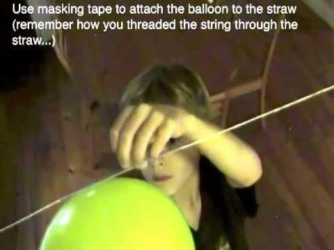 How To Make A Balloon Rocket