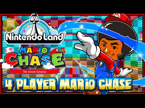 Nintendo Land Wii U - (1440p) Mario Chase 4 Player (FaceCam)