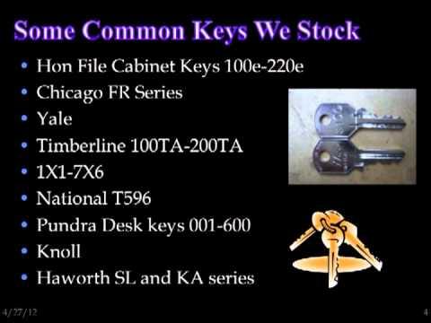 Hon Key Replacement Hon File Cabinet Keys