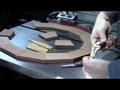 Part 3 of a 13 sided oval mahogany mirror frame build