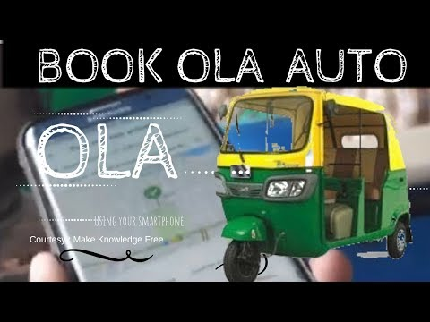 How to book ola auto?