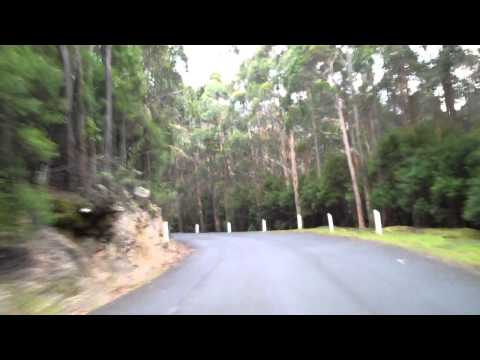 Hobart Tasmania - Mazda MX5 Driving Up Mount Wellington