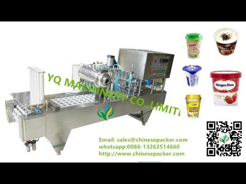 plastic cup box bowl filling and sealing machine for popcorn volumetric cup filler sealer system