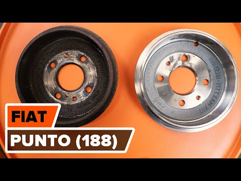 How to replace rear brake drum and brake pads FIAT PUNTO TUTORIAL | AUTODOC