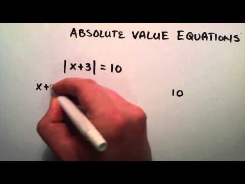 How to Solve an Absolute Value Equation , Example 1 , Intermediate Algebra , Lesson 48