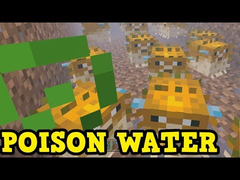 Minecraft Xbox / PE AQUATIC UPDATE - Poisonous Moat Build Guide