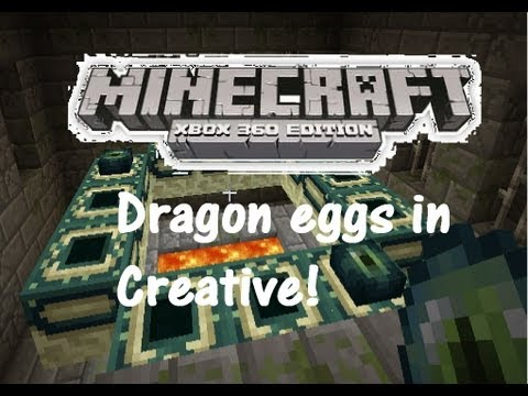 Minecraft Xbox 360 Edition How To Get Ender Dragon Egg in Creative/Survival Hotbar