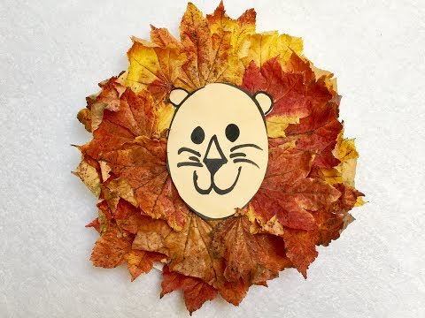 Lion Craft with Fall Leaves