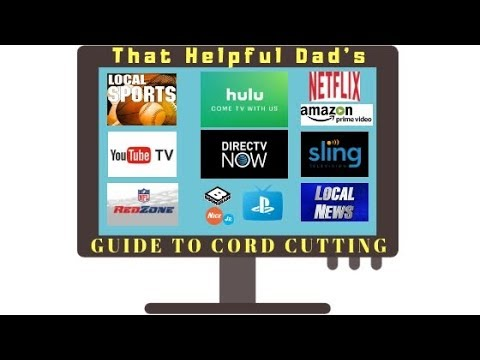 2018 CORD CUTTING Guide:  Sling, Direct TV Now, YouTube TV, PlayStation Vue, Hulu Plus