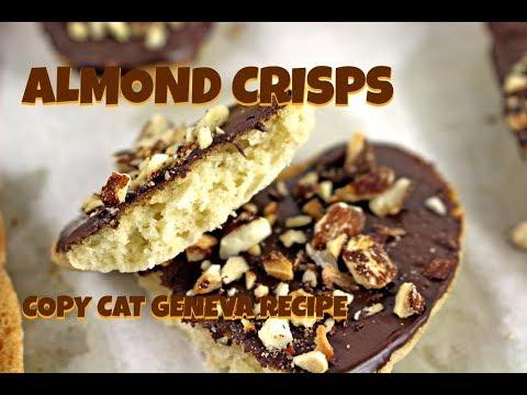Vegan Almond Crisp Cookies~ Pepperidge Farm Copy Cat Recipe || Gretchen's Bakery