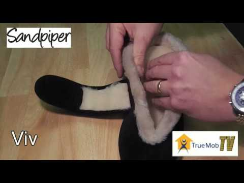Ladies wide fitting slippers at True Mobility Didcot