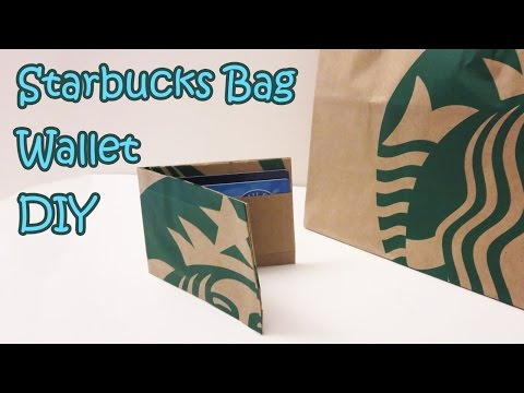 Starbucks Bag Wallet Transformation DIY | Sunny DIY