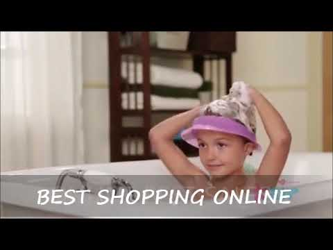 Safe Shampoo Baby Shower Cap Bathing Bath Protect Soft Cap Hat For Baby Kids Video