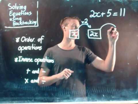 Solving equations using backtracking
