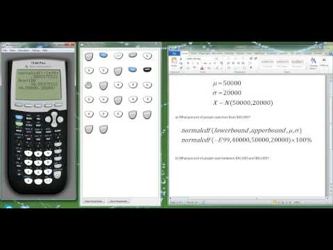 TI-84 Tutorial: Normal distributions