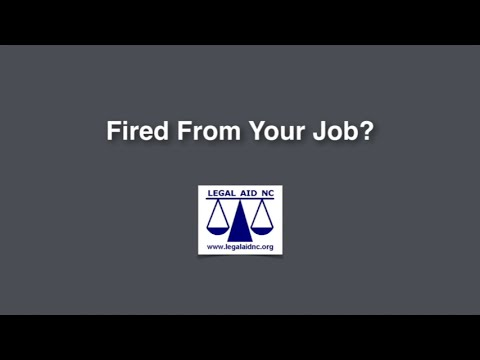 Fired from your job?