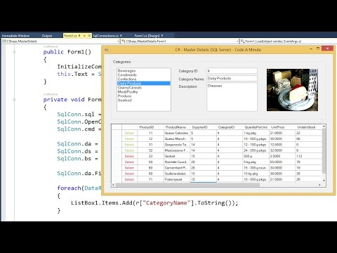 C# - How to Create a Master-Detail Windows Form (SQL Server 2014) Part 2