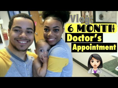 Vlog//6 Month Appointment!| Day in the Life of Teen Parents at 18