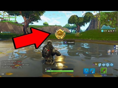 Fortnite | Search between vehicle tower, Rock sculpture and a circle of hedges