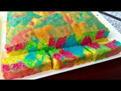 Colourful Marble Cake | Kitchen Time with Neha
