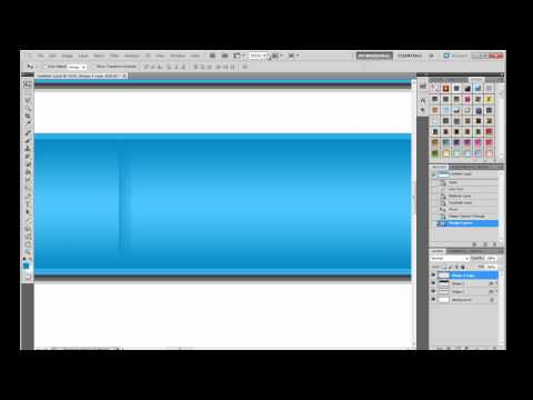 Photoshop web design tutorial | Create Navigation Bar and Header