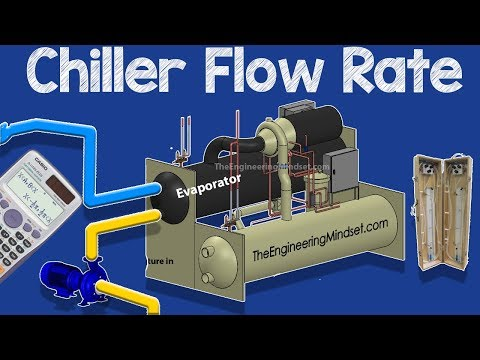 Chiller flow rate measurement and calculation, chilled and condenser water