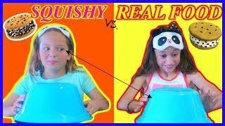 """SQUISHY VS. REAL FOOD CHALLENGE """"PART #2 """" WITH A  SPECIAL GUEST """"SISTER FOREVER"""""""