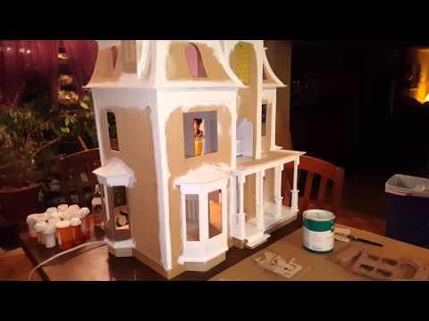 DIY painting dollhouse trim