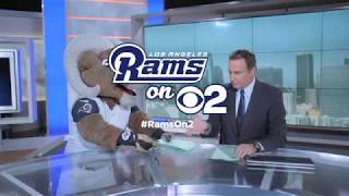 Rams On 2: Rampage and Rick On The CBS2 Set