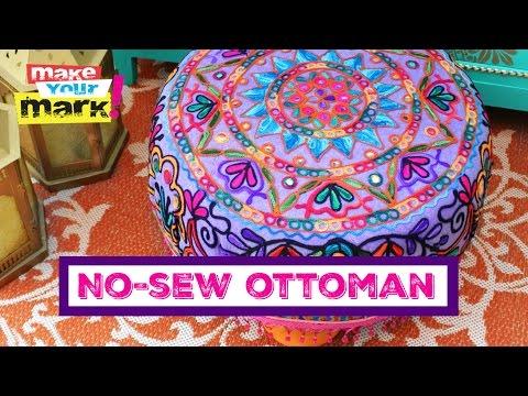 Easy No-Sew Ottoman