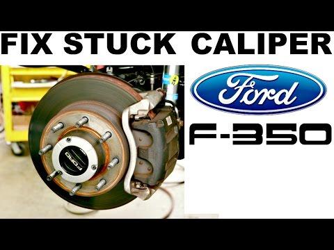 How To Fix Stuck Brake Caliper Ford F250 F350